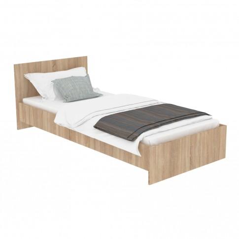Pat dormitor 900, o persoana, stejar bardolino, 90 x 200 cm, 3C