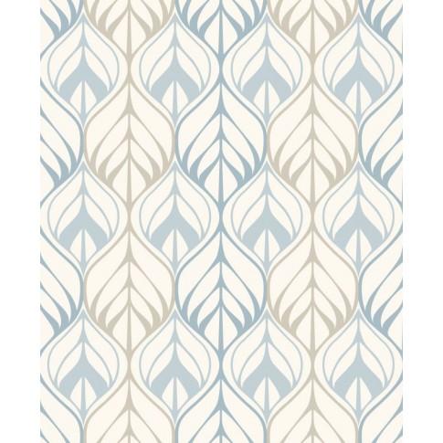 Tapet fibra textila, model frunze, Grandeco New Aurora NA3002, 10 x 0.53 m