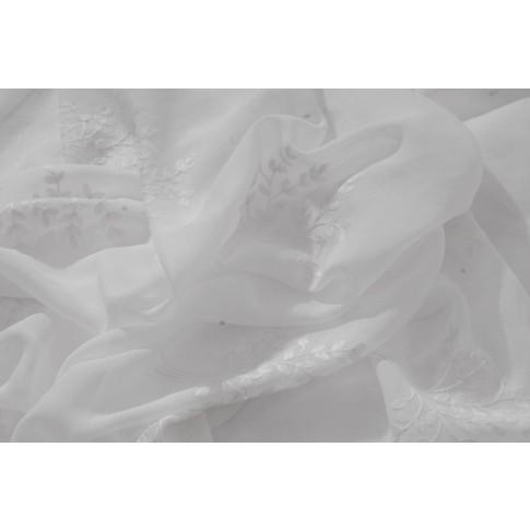 Perdea Serena, poliester, alb, H 280 cm