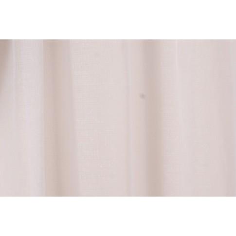 Perdea Miranda, poliester, fir de plumb, alb, H 290 cm