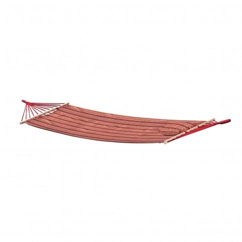 Hamac cu bare de lemn si perna, 68491B-P GP, 100/80 x 200 cm