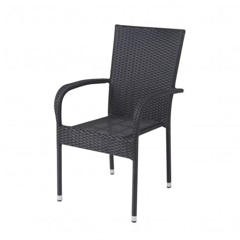 Scaun pentru gradina, Haiti 332.775, metal + polietilena, negru