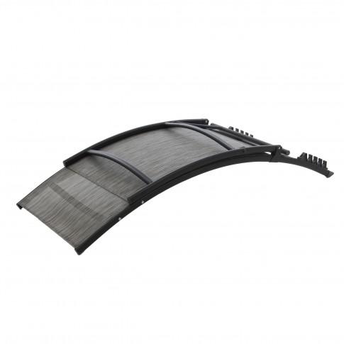 Sezlong plaja, spatar reglabil, 40549T2-ST-PT, structura metalica, gri, 176 x 54.5 x 35/96 cm