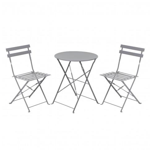 Set masa rotunda, cu 2 scaune, pentru gradina Bistro Roma, din metal