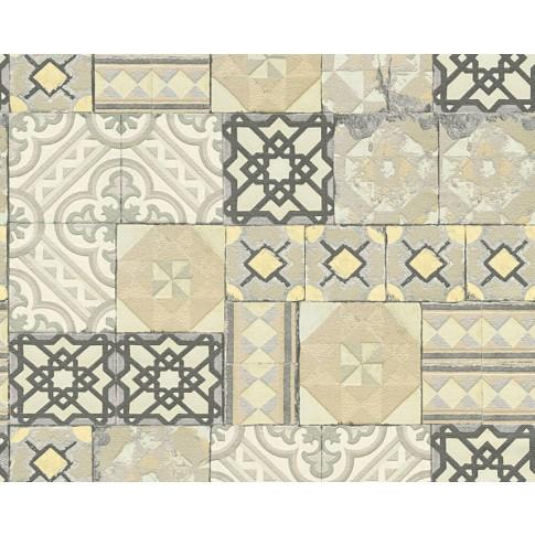 Tapet hartie, model mozaic, AS Creation H2O 343002, 10 x 0.53 m