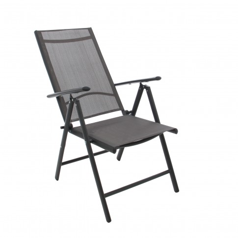 Scaun pentru gradina, pliant, D85116-AS, metal + textilen