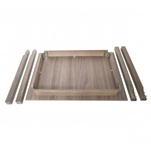Masa bucatarie fixa Prod, dreptunghiulara, 4 persoane, maro trufa, 100 x 68 x 78 cm
