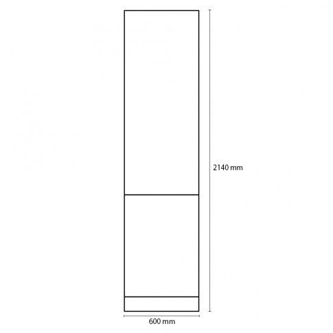 Dulap bucatarie Visuri, caz 2 - Urziceni, crem, 2 usi, 60 x 60 x 214 cm