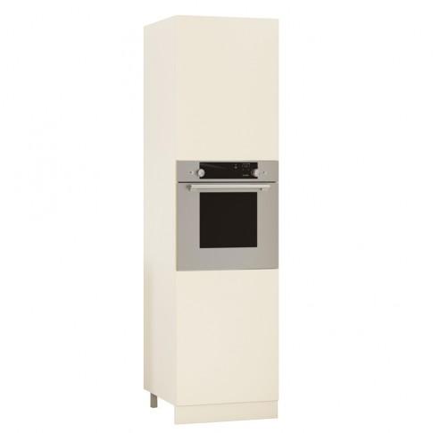 Dulap bucatarie Visuri, caz 2 - Urziceni, pentru cuptor, crem, 2 usi, 60 x 60 x 214 cm
