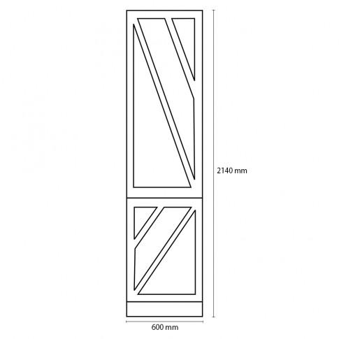Dulap bucatarie Visuri, caz 3 - Peris, gri antracit mat, 2 usi, 60 x 60 x 214 cm