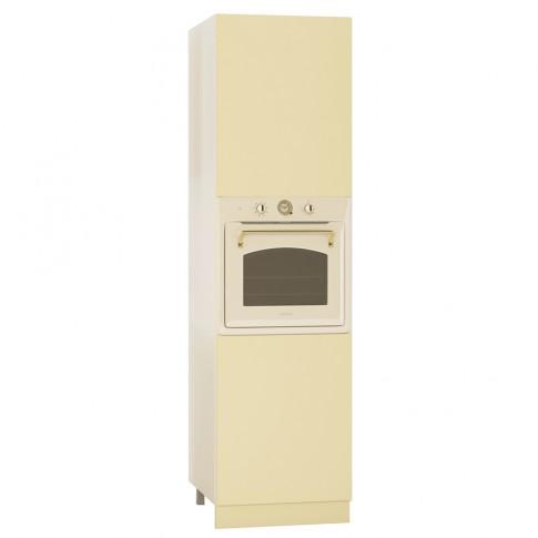 Dulap bucatarie Visuri, caz 6 - Ocnele Mari, pentru cuptor, bej mat, 2 usi, 60 x 60 x 214 cm