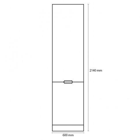 Dulap bucatarie Visuri, caz 12 - Bucuresti, alb lucios + lila mat, 2 usi, 60 x 60 x 214 cm
