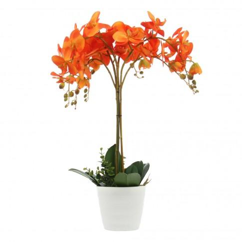 Floare artificiala JWP365, portocalie, 60 cm