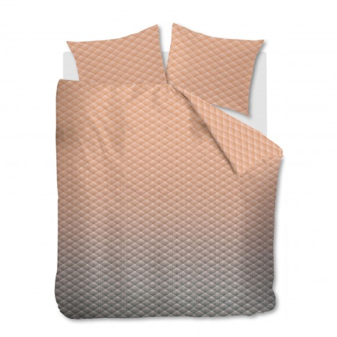Lenjerie de pat Vinz Nude, 2 persoane, bumbac 100 %, maro, 4 piese