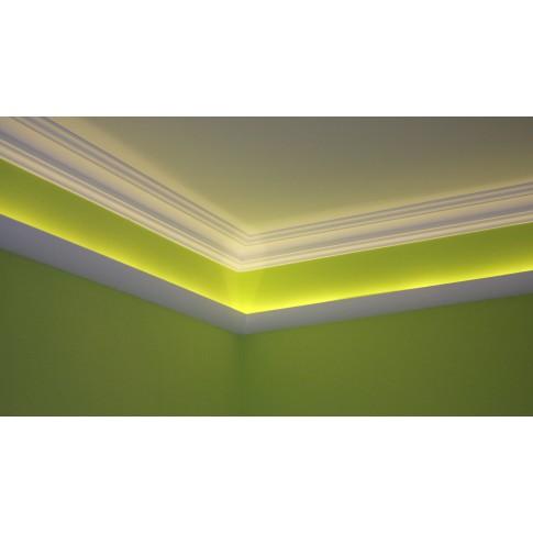 Bagheta decorativa polistiren L100 13105, modern, alba, 200 x 6.5 x 10 cm