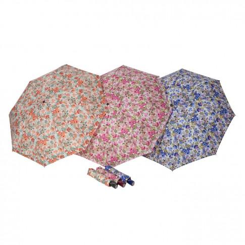 Umbrela ploaie Magic fiber, pliabila, imprimeu floral, D 98 cm