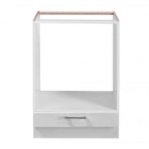Corp inferior bucatarie Diva 60 UR, cu blat, pentru cuptor, alb mat + folie lucioasa alba, 60 x 55 x 82 cm, 2C