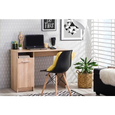 Birou calculator Rey, stejar sonoma, 100 x 74.5 x 50 cm, 1C