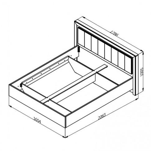 Dormitor complet Astor, stejar gri + alb lucios, 5 piese, 13C