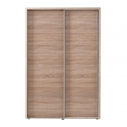 Dulap dormitor Logan 135, stejar sonoma, 2 usi glisante, 137.5 x 61 x 206 cm, 3C