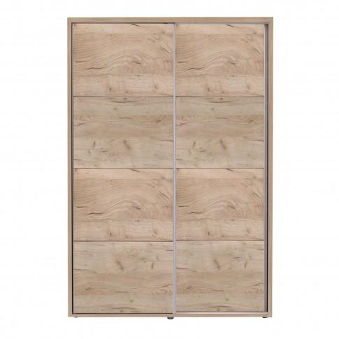 Dulap dormitor Logan 135, stejar gri, 2 usi glisante, 137.5 x 61 x 206 cm, 3C