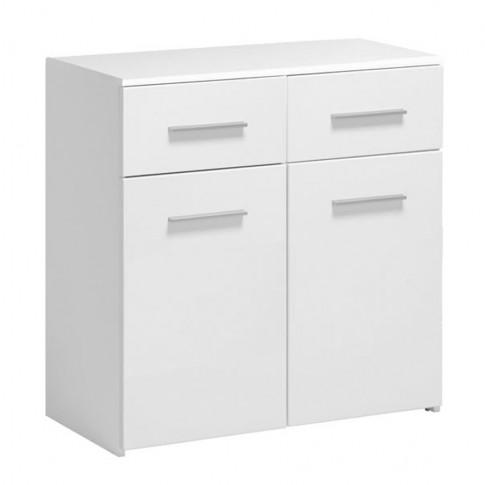 Comoda Elba 2K2F, cu doua sertare, alba, 80 x 81 x 40 cm, 2C