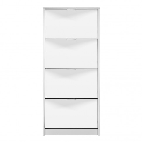 Pantofar Hugo 24, cu oglinda, alb, 67 x 155.5 x 28 cm, 2C