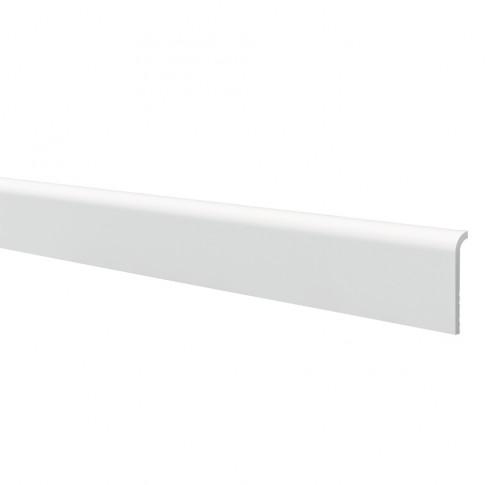 Plinta decorativa polimer dur CF1, modern, alba, 200 x 11 x 2.2 cm