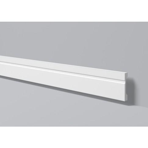 Plinta decorativa polimer dur FD11, timeless, alba, 200 x 11 x 1.8 cm