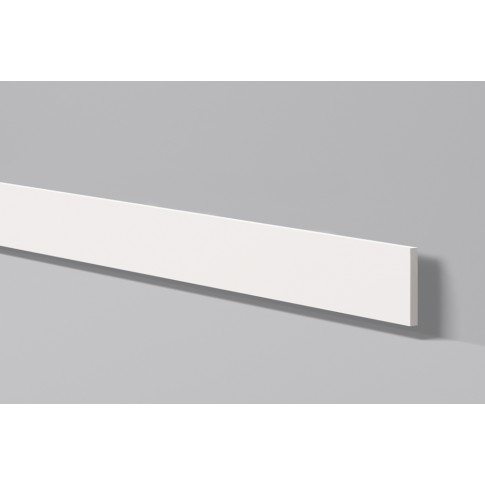 Plinta decorativa polimer dur FL9, timeless, alba, 200 x 10 x 0.8 cm