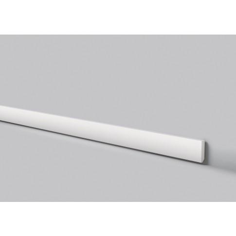 Plinta decorativa polimer dur FT2, modern, alba, 200 x 5.8 x 1.3 cm
