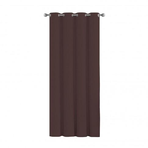 Draperie Blackout, poliester, maro inchis, 135 x 245 cm