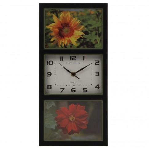 Ceas perete YQ0273, analog, dreptunghiular, din plastic, 41.5 x 20 x 4 cm