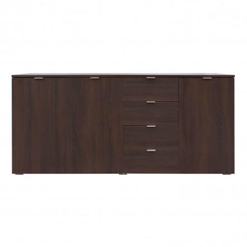 Comoda dormitor Lis, cu 4 sertare, sonoma dark, 160 x 73 x 42 cm, 3C
