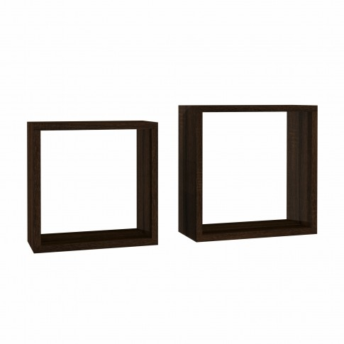 Polita 2, PAL, perete, sonoma dark, 34 x 17 x 34 cm, 2C