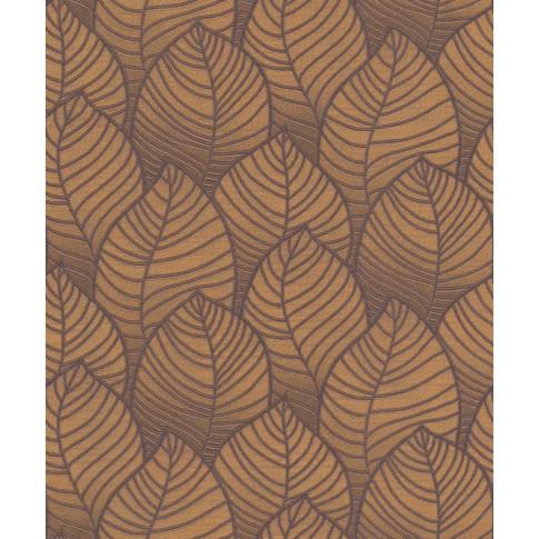 Tapet fibra textila, model frunze, Grandeco Orion ON3005, 10 x 0.53 m