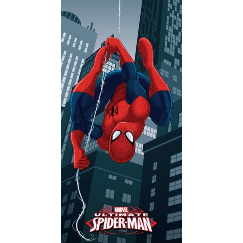 Prosop plaja Disney Spiderman, poliester, multicolor, 70 x 140 cm