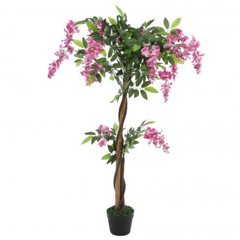 Floare artificiala JWT2170, roz + alb, 120 cm