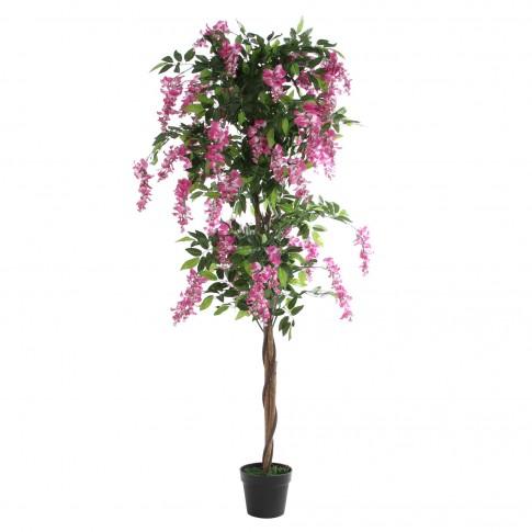 Floare artificiala JWT2757, roz + alb, 180 cm