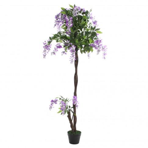 Floare artificiala JWT017-1, mov + alb, 160 cm