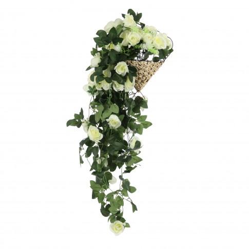 Floare artificiala, CFS - 3L, galben, 90 cm