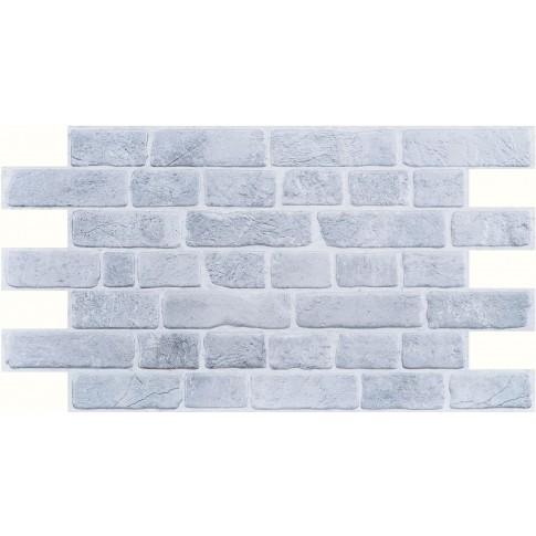 Panou decorativ Brick Retro grey, PVC, gri, 95.1 x 49.5 cm, 0.4 mm