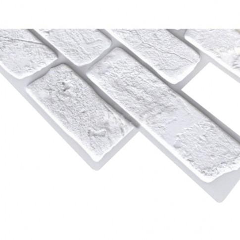 Panou decorativ Brick Retro white, PVC, alb, 95.1 x 49.5 cm, 0.4 mm