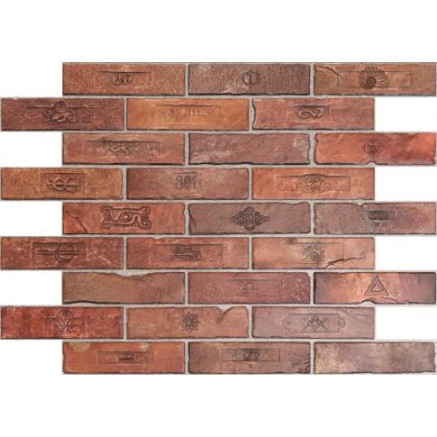Panou decorativ Brick Top Gun, PVC, maro, 89.6 x 64.2 cm, 0.6 mm