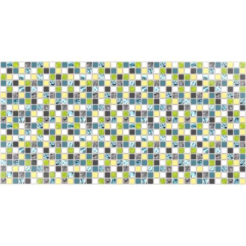 Panou decorativ Mosaic Blue Rose, PVC, multicolor, 96 x 48 cm, 0.4 mm