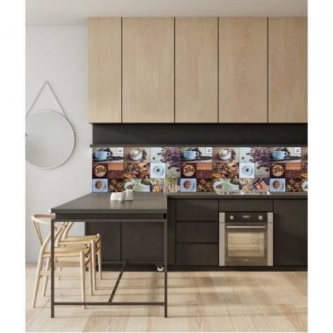 Panou decorativ Mosaic Coffee House, PVC, multicolor, 95.7 x 48 cm, 0.3 mm