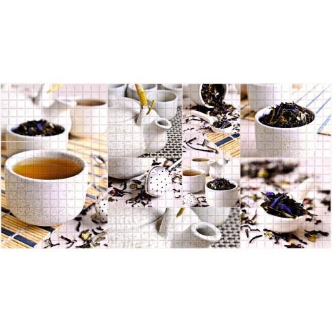 Panou decorativ Mosaic Tea Ceremony, PVC, multicolor, 95.7 x 48 cm, 0.3 mm