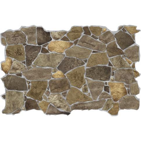 Panou decorativ Stone Wild Brown, PVC, maro, 98.4 x 63.3 cm, 0.6 mm