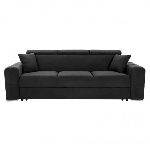 Canapea extensibila 3 locuri Bellagio, neagra, 235 x 95 x 85 cm, 1C