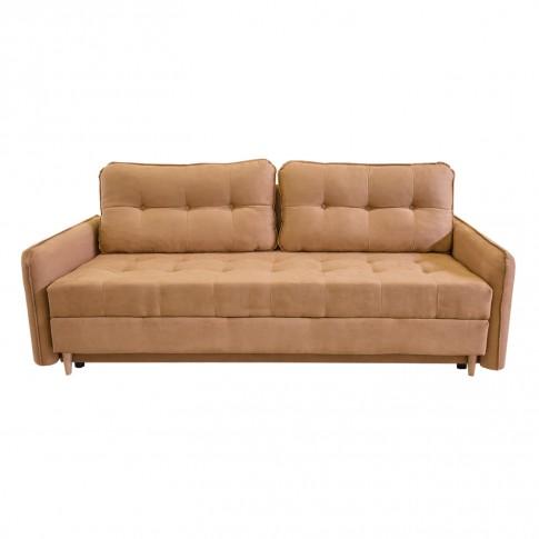 Canapea extensibila 3 locuri Lucky, cu lada, bej, 225 x 95 x 75 cm, 2C